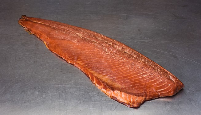 Hot Smoked Salmon Side (fully cooked, unsliced)