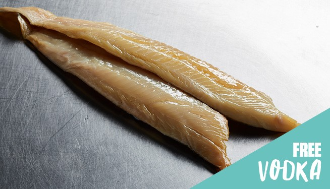 Smoked Haddock Fillets (natural colour, skin on, pin bone in)