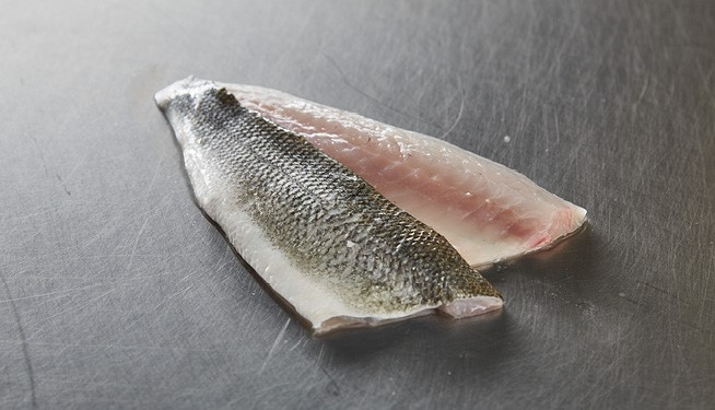 Farmed Sea Bass Fillets (skin on, scaled)