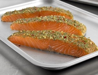 Peruvian-Style Chimichurri Marinated Salmon Portions (skin-on, boneless)