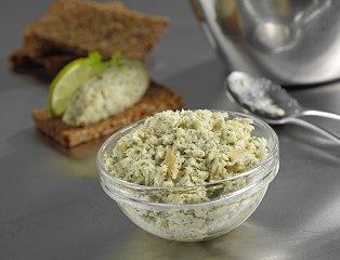 Hot Smoked Sea Bass Pate with Lime & Coriander
