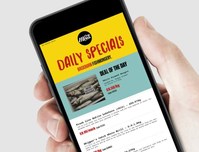 Daily specials sign up