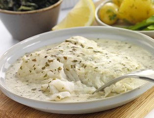 MSC Atlantic Cod Fillet in a Parsley Beurre Blanc Sauce (skinless, boneless)